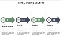 Intent Marketing Solutions Ppt Powerpoint Presentation Outline Slide Cpb
