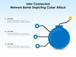 Inter Connected Network Bomb Depicting Cyber Attack