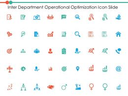 Inter Department Operational Optimization Icon Slide Ppt Powerpoint Presentation File Show