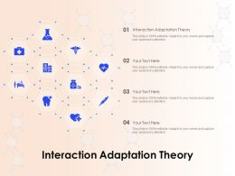 Interaction Adaptation Theory Ppt Powerpoint Presentation Outline Maker