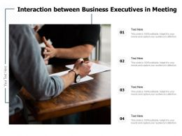 Interaction Between Business Executives In Meeting