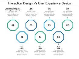Interaction Design Vs User Experience Design Ppt Powerpoint Presentation Portfolio Gallery Cpb