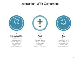 Interaction With Customers Ppt Powerpoint Presentation Summary Shapes Cpb