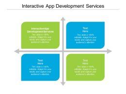 Interactive App Development Services Ppt Powerpoint Presentation File Elements Cpb