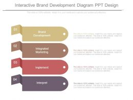 Interactive Brand Development Diagram Ppt Design