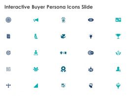 Interactive Buyer Persona Icons Slide Mind Map Poerpoint Presentation Slides