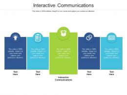 Interactive Communications Ppt Powerpoint Presentation Model Information Cpb