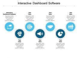 Interactive Dashboard Software Ppt Powerpoint Presentation Portfolio Icon Cpb