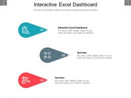 Interactive Excel Dashboard Ppt Powerpoint Presentation Examples Cpb