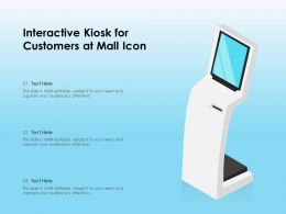 Interactive Kiosk For Customers At Mall Icon