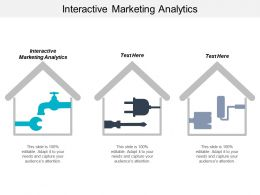 Interactive Marketing Analytics Ppt Powerpoint Presentation Outline Aids Cpb