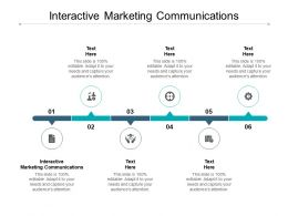 Interactive Marketing Communications Ppt Powerpoint Presentation Styles Graphics Cpb
