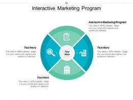 Interactive Marketing Program Ppt Powerpoint Presentation File Graphics Template Cpb