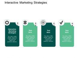 Interactive Marketing Strategies Ppt Powerpoint Presentation Gallery Slide Cpb