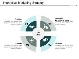 Interactive Marketing Strategy Ppt Powerpoint Presentation Portfolio Design Templates Cpb