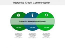 Interactive Model Communication Ppt Powerpoint Presentation Inspiration Elements Cpb