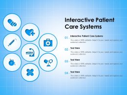 Interactive Patient Care Systems Ppt Powerpoint Presentation Gallery Background