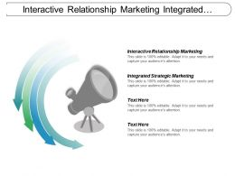 Interactive Relationship Marketing Integrated Strategic Marketing Business Communication Cpb