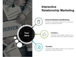 Interactive Relationship Marketing Ppt Powerpoint Presentation File Icon Cpb