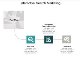 Interactive Search Marketing Ppt Powerpoint Presentation File Icons Cpb