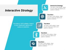 Interactive Strategy Ppt Powerpoint Presentation Ideas Background Cpb