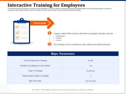 Interactive Training For Employees External Ppt Powerpoint File Brochure