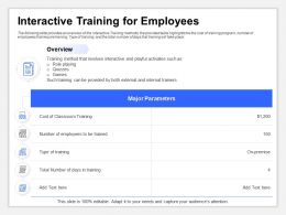 Interactive Training For Employees Internal Trainers Ppt Presentation Tips
