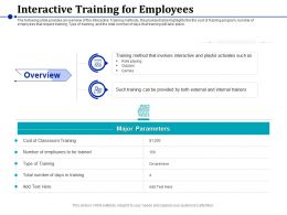 Interactive Training For Employees Role Playing Ppt Powerpoint Presentation Show