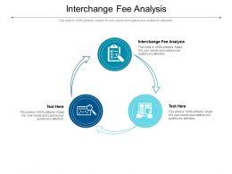 Interchange Fee Analysis Ppt Powerpoint Presentation File Format Ideas Cpb