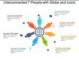 Interconnected 7 People With Globe And Icons