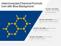 Interconnected Chemical Formula Icon With Blue Background