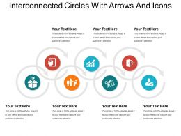 Interconnected Circles With Arrows And Icons