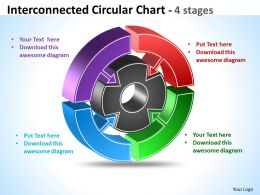 Interconnected Circular Chart diagram 12