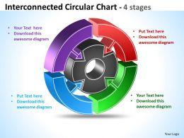 Interconnected Circular Chart diagram 12