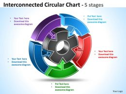 Interconnected Circular diagram Chart 6