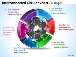 Interconnected Circular diagram Chart 6 Stages 8