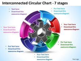 Interconnected Circular diagram Chart 7 Stages 9