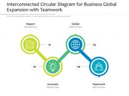 Interconnected Circular Diagram For Business Global Expansion With Teamwork