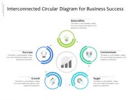 Interconnected Circular Diagram For Business Success