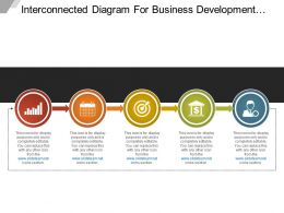 Interconnected Diagram For Business Development Phases Sample Of Ppt