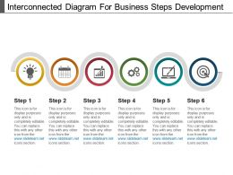 Interconnected Diagram For Business Steps Development Powerpoint Images