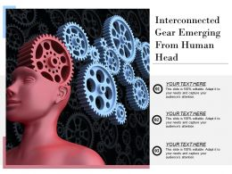 Interconnected Gear Emerging From Human Head