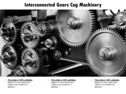 Interconnected Gears Cog Machinery