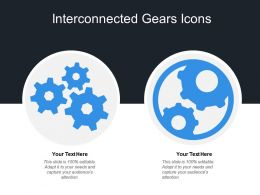 Interconnected Gears Icons