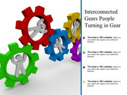Interconnected Gears People Turning In Gear