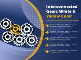 Interconnected Gears White And Yellow Color