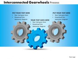 Interconnected Gearwheels Process Powerpoint Slides And Ppt Templates DB