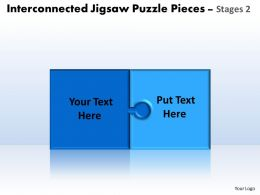 interconnected jigsaw puzzle diagram pieces powerpoint templates 6