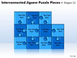 interconnected jigsaw puzzle pieces stages 11 powerpoint templates