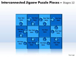 interconnected jigsaw puzzle pieces stages 12 powerpoint templates